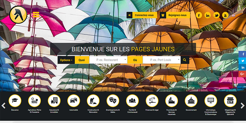 The new Yellow Pages is also available in French.