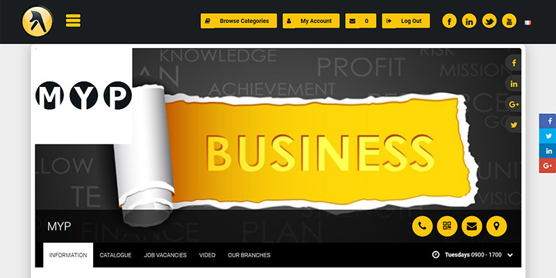 The Cyber Business Page offers a wide range of features.